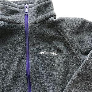 Columbia Womens Gray Small Fleece Full Zip Jacket
